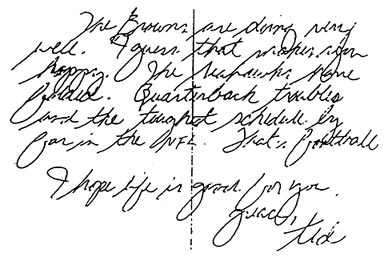 Handwriting analysis of serial killers