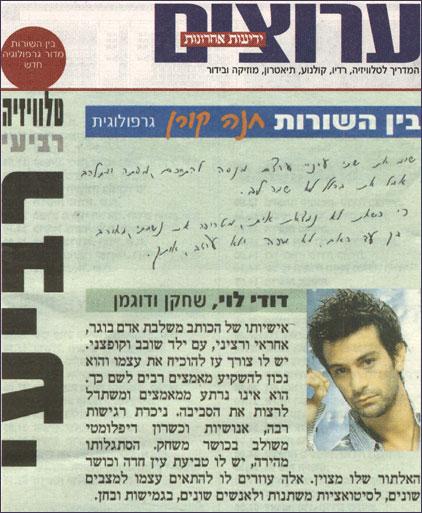 יהודה לוי - שחקן ודוגמן